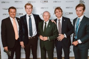 Amber Lounge - Sir Jackie Stewart with his sons and grandsons_preview