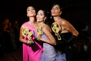 Alice, Nadine and Farah Abdel Aziz  (Photo by Daniele Venturelli/Getty Images)