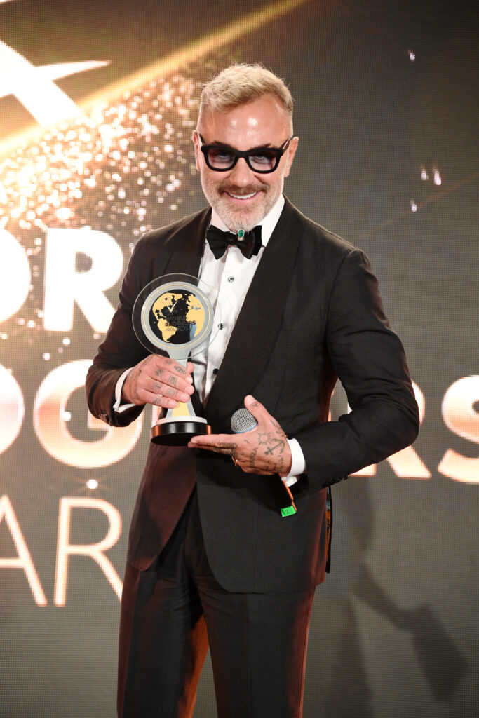 CANNES, FRANCE - MAY 22: Gianluca Vacchi attends theInaugural 'World Bloggers Awards' during the 72nd annual Cannes Film Festival on May 22, 2019 in Cannes, France. The 'World Bloggers Awards' is the world's first ever awarding ceremony for the best bloggers across 22 nominations. It unites and celebrates influencers and opinion leaders from around the world in various fields, taking their social input to the higher level. (Photo by Daniele Venturelli/Getty Images)
